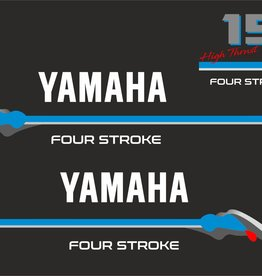 Yamaha fourstroke 15 pk high trust Sticker set