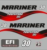 Mariner fourstroke efi 30pk bouwjaar 2003-2012 sticker set