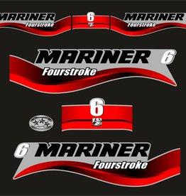 Mariner fourstroke 6 pk sticker set
