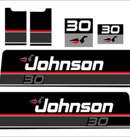 Johnson/Evinrude 30 PK bouwjaar 1989 sticker set