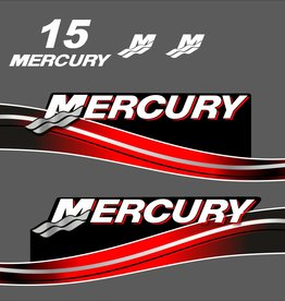 Mercury 15 HP year range 2005-2007 sticker set