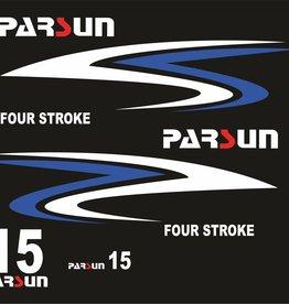 Parsun 15 PK 4-Takt Sticker Set