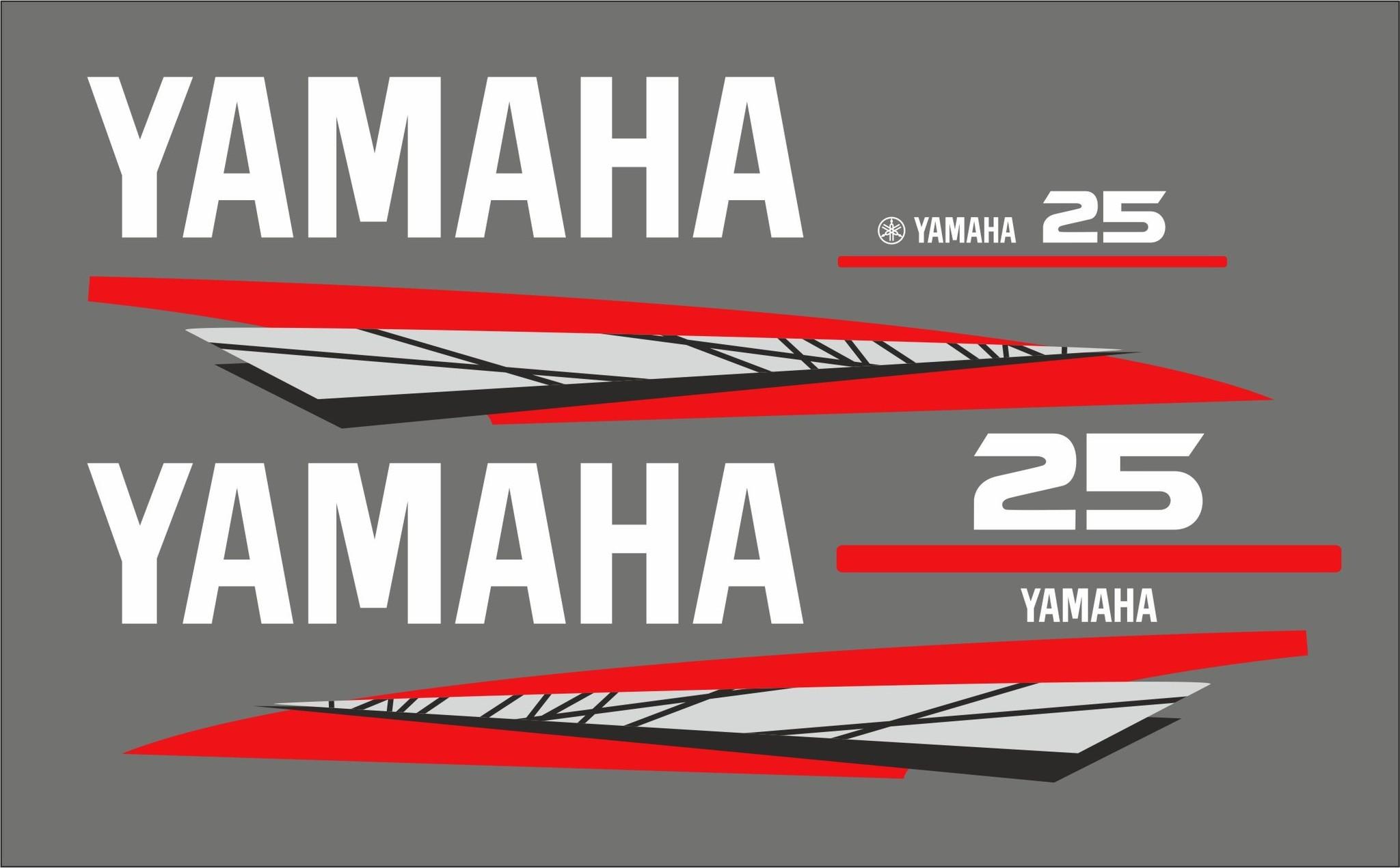 Yamaha 25 PK bouwjaar 1998-2004 Sticker