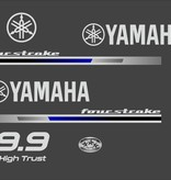 Yamaha fourstroke 9.9 pk high trust Sticker set
