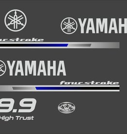 Yamaha fourstroke 9.9 pk high trust Sticker set