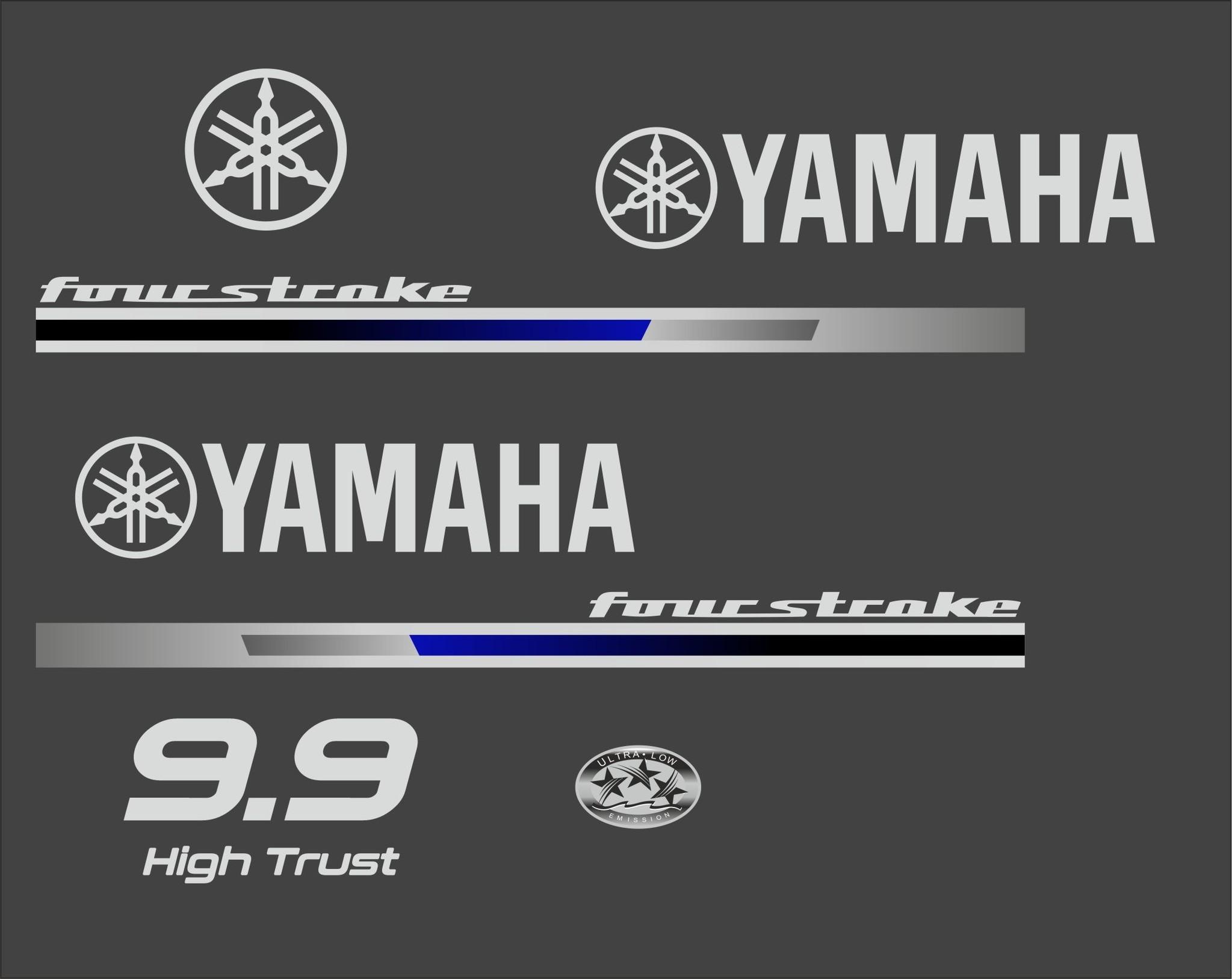 Yamaha 9.9 PK  4 Takt high trust Sticker set