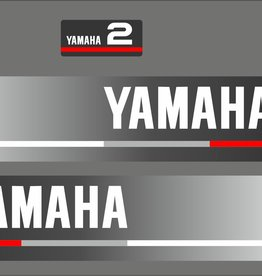 Yamaha 2 HP year range 1990  Sticker set
