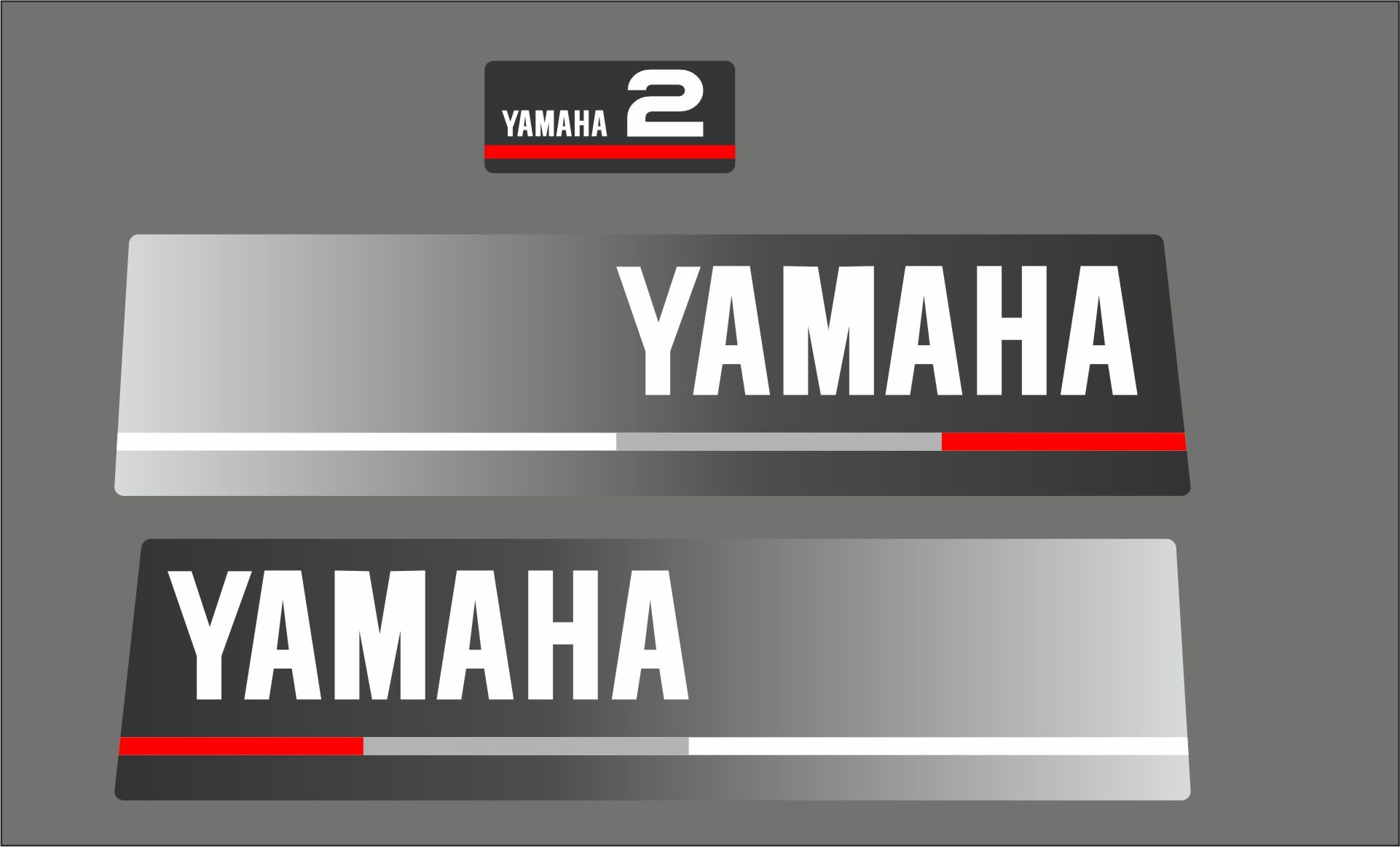Yamaha 2 HP year range 1990  Sticker set