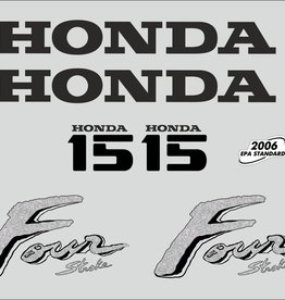 Honda 15 HP year range 2003 sticker set