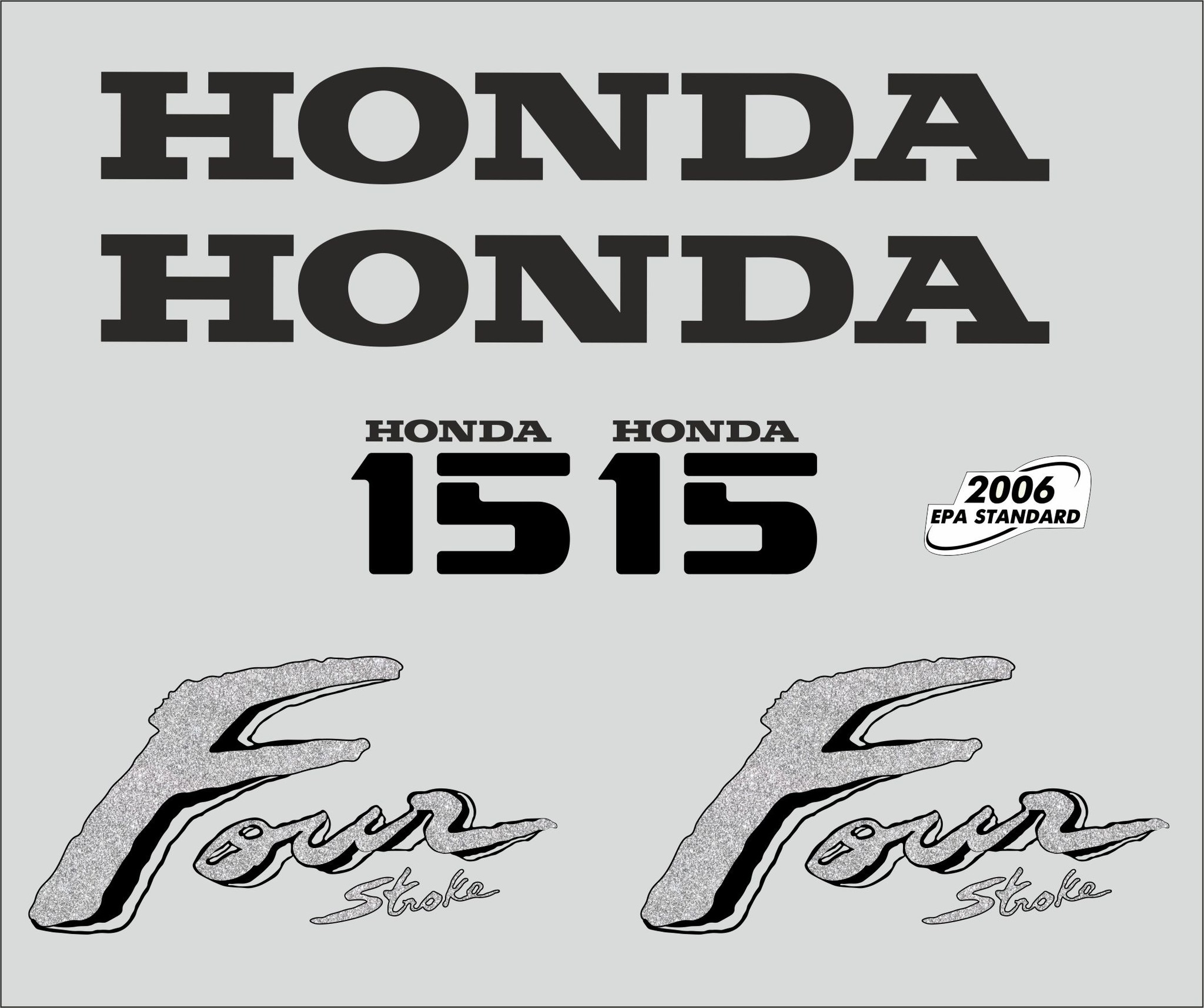 Honda 15 PK  bouwjaar 2003 sticker set