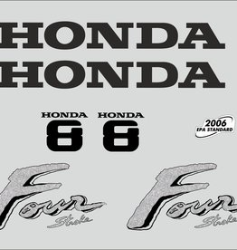 Honda 8 HP year range 2003 sticker set