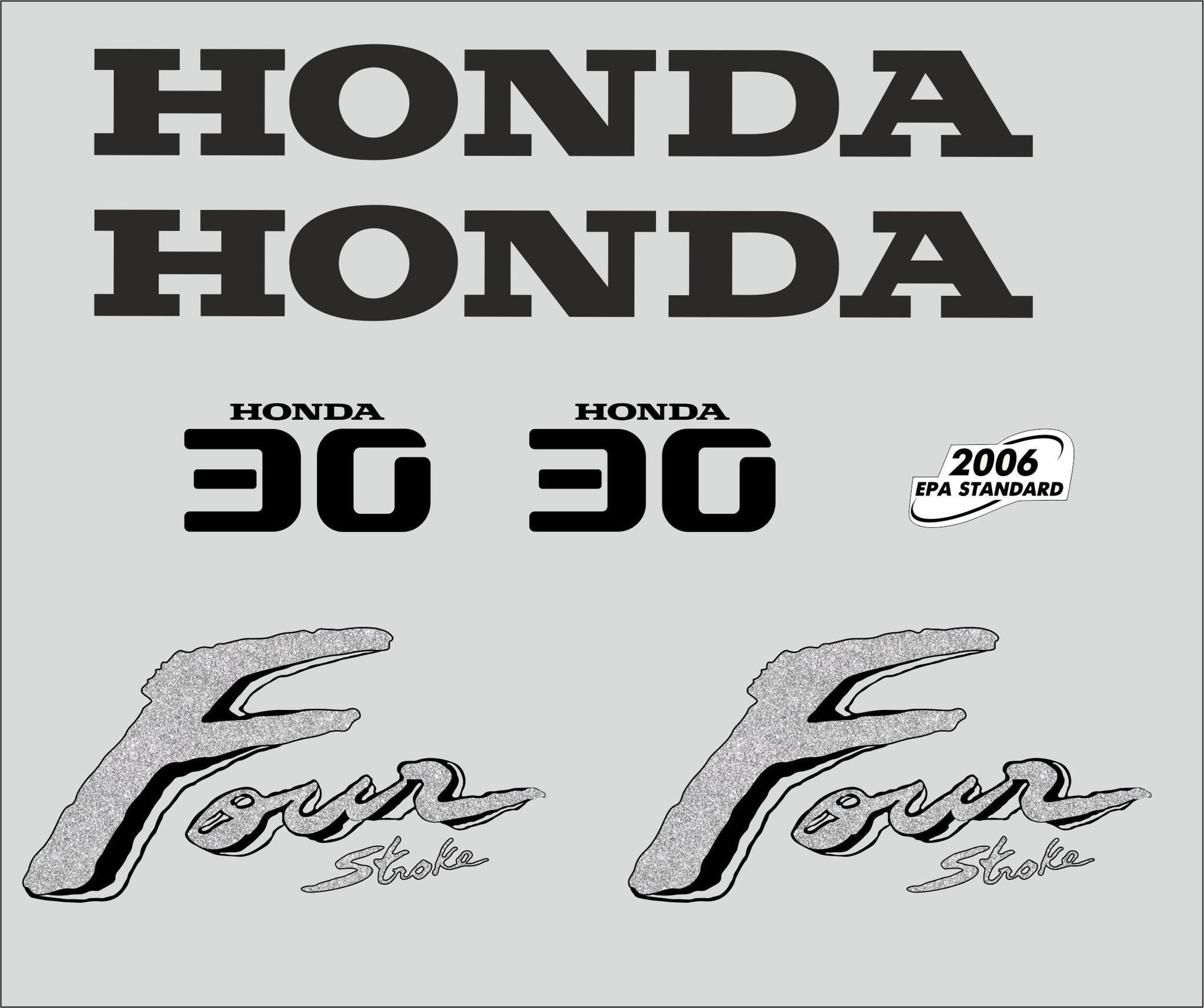 Honda 30 PK  bouwjaar 2003 sticker set