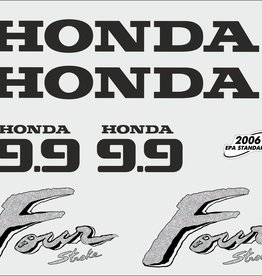 Honda 9.9 HP year range 2003 sticker set