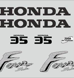 Honda 35 PK  bouwjaar 2003 sticker set