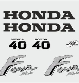 Honda 40 HP year range 2003 sticker set