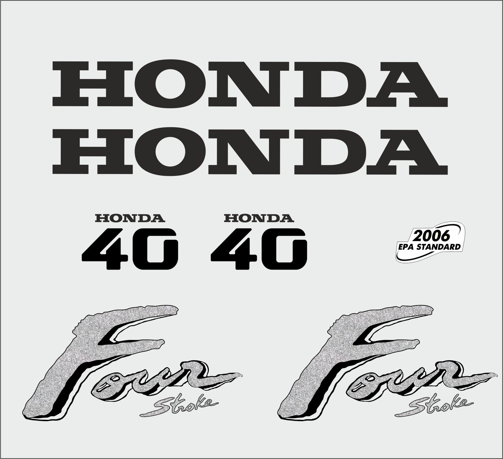 Honda 40 PK  bouwjaar 2003 sticker set
