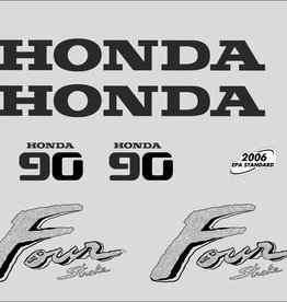 Honda 90 HP year range 2003 sticker set