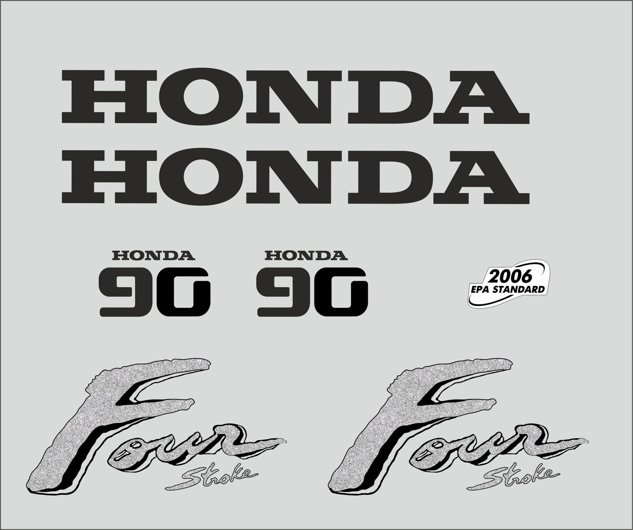 Honda 90 PK  bouwjaar 2003 sticker set
