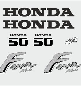 Honda 50 HP year range 2003 sticker set
