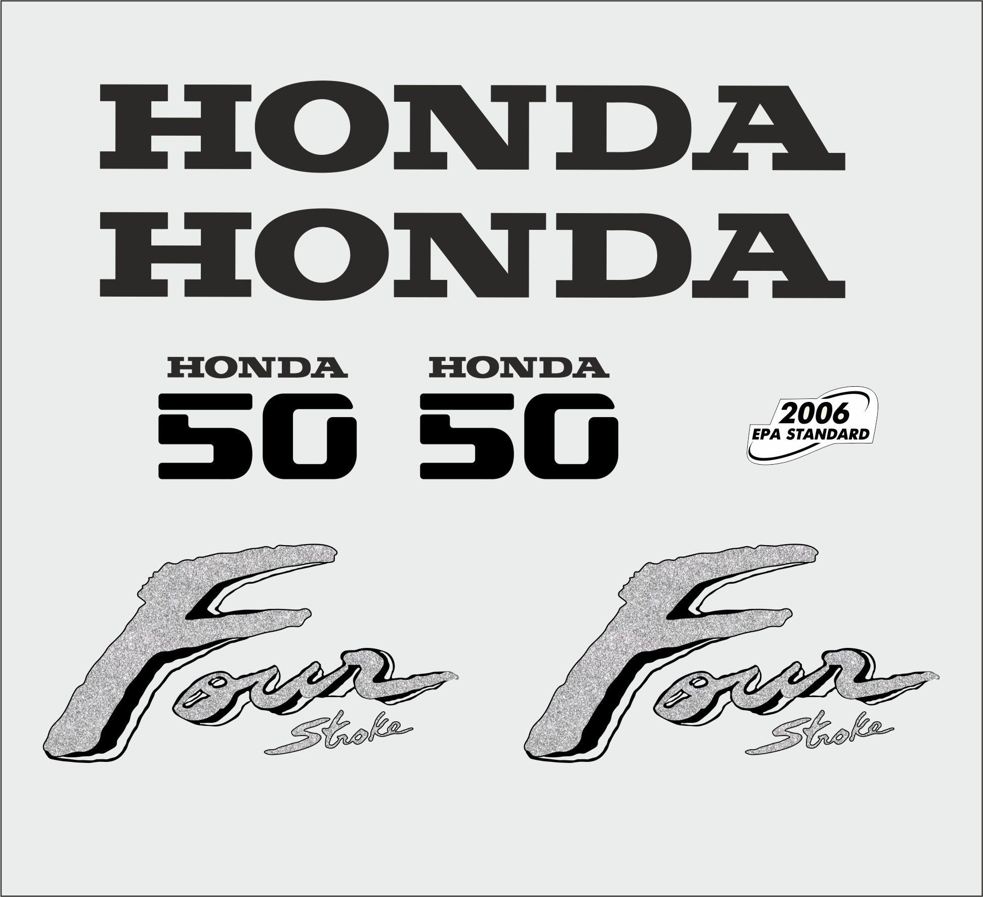 Honda 50 HP year range 2003 sticker set