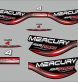 Mercury 4 HP fourstroke  year range 1998  sticker set