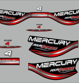 Mercury 4 HP fourstroke  year range 1998  sticker set