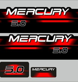 Mercury 5 HP year range 1994 – 1998 sticker set