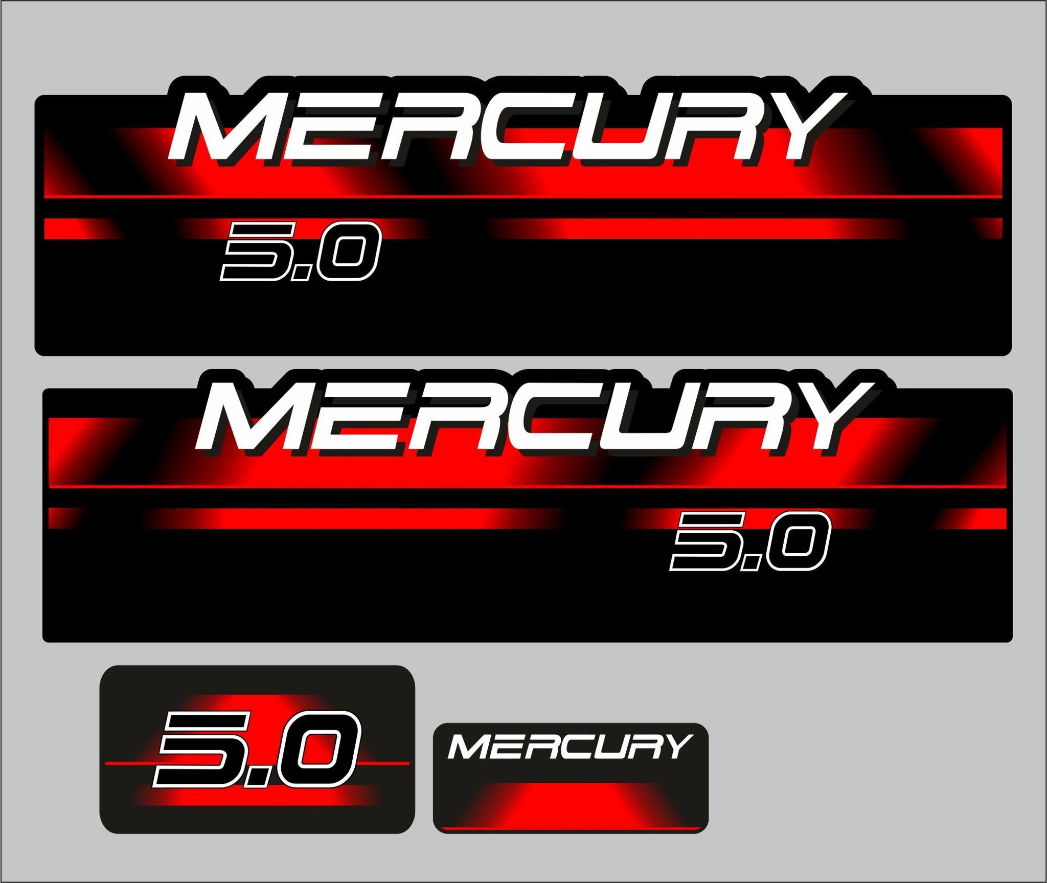 Mercury 5 PK  bouwjaar 1994 – 1998 sticker set