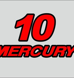 Mercury 10 HP sticker set