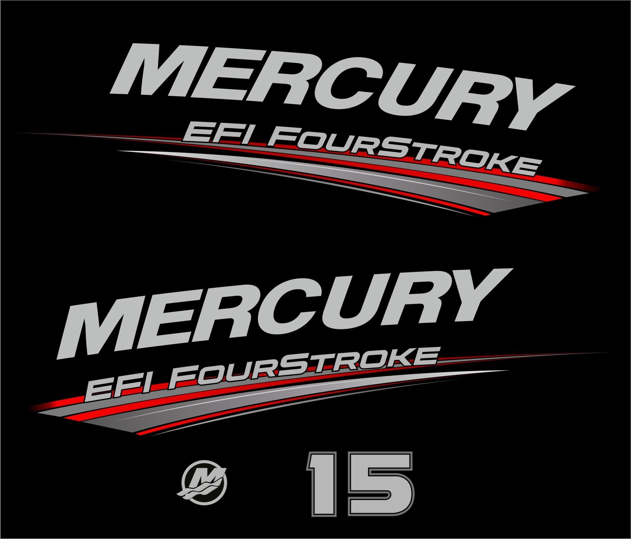 Mercury 15 PK EFI fourstroke bouwjaar 2019 sticker set