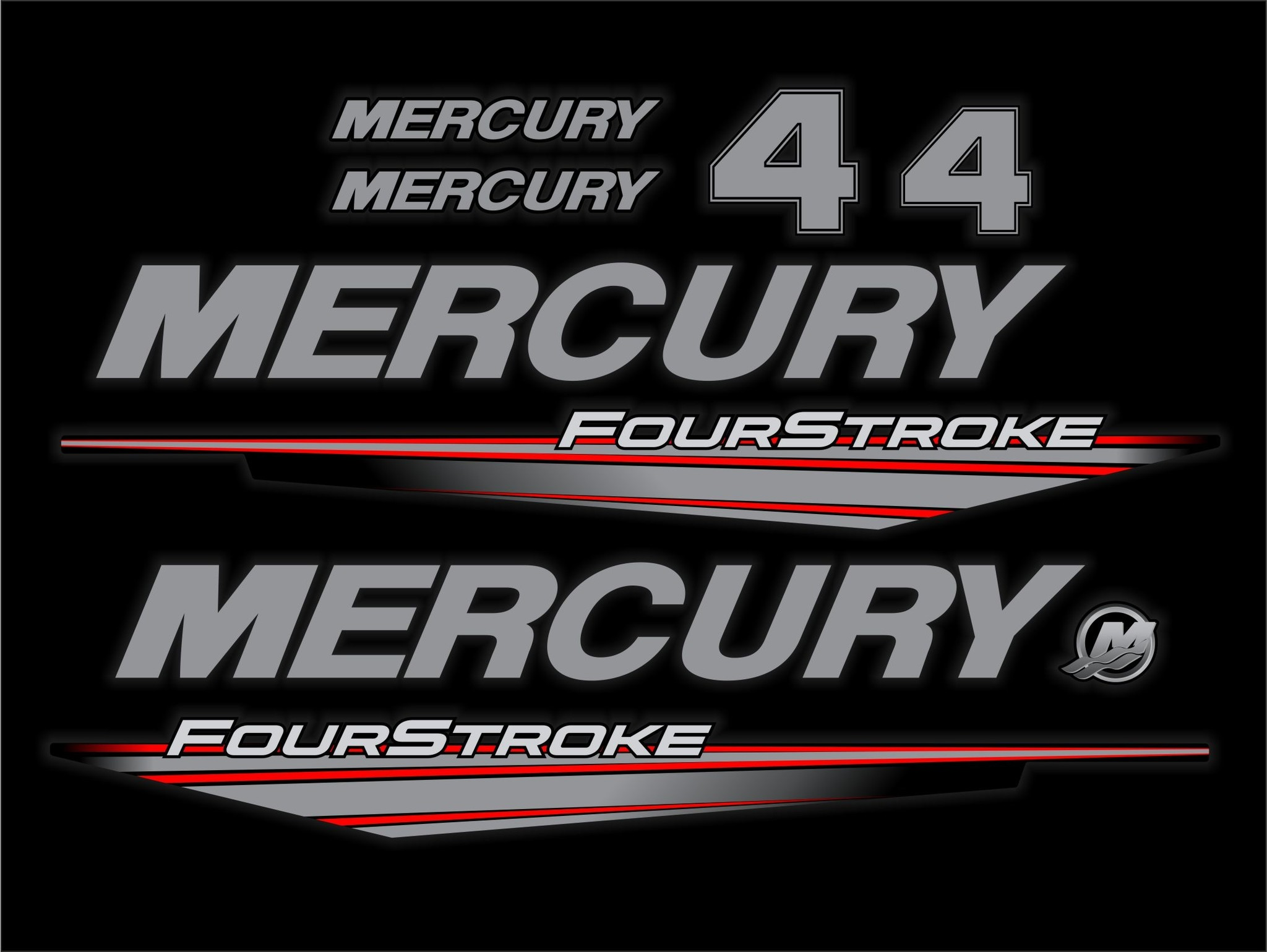 Mercury 4 PK fourstroke bouwjaar 2015- 2019 sticker set