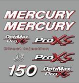 Mercruy 150 HP Optimax pro X Sticker set