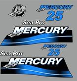 Mercury 25 HP Sea pro year range 2007 sticker set