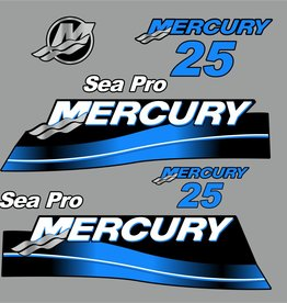 Mercury 25 HP Sea pro year range 2007 sticker set