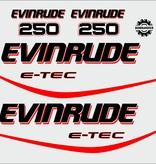 Evinrude e-tec 250 HP Sticker set