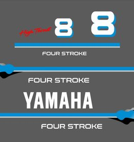 Yamaha 8 HP 4 Stroke  Sticker set