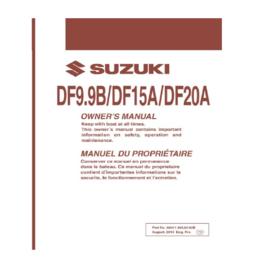 Suzuki Instructieboekje DF9.9B/DF15A/DF20A