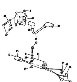 Johnson Evinrude 4/5 PK 2 Takt  Power Pack Ignition Coil Assembly (582508 583667)