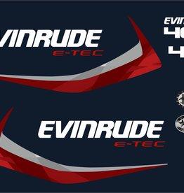 Evinrude e-tec 40 pk Stickerset