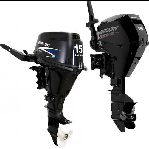 Nieuwe Yamaha, Mercury, Honda, Selva  en Parsun Buitenboordmotoren 4-takt