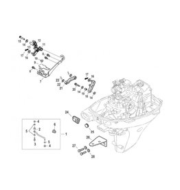 Mercury Mercury Mariner F10EFI-F15EFI-F20EFI Remote Control Conversion Kit (8M0140122)