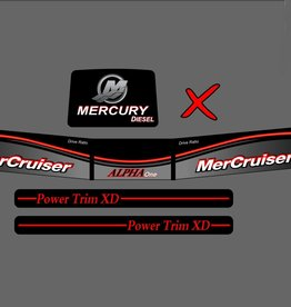 Mercury Mercruiser Alpha one diesel Sticker set