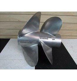 Mercruiser Originele RVS Mercruiser propeller set voor Bravo 3 24P (48-823665 / 48-823666) (gebruikt, maar 100% goed)