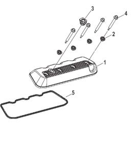 Mercruiser Mercruiser 6.2L MPI Cover assembly 8M0107074 + seal rocker cover 8M0085226