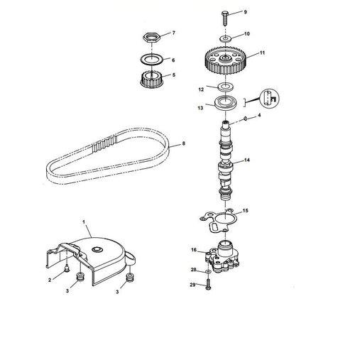 Yamaha/Parsun Buitenboordmotor F15A (F20A) BM (FW) Camshaft onderdelen