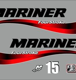 Mariner fourstroke 15 PK sticker set