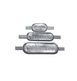 Tecnoseal Zink of aluminium anode met RVS lasstrip, verschillende afmetingen
