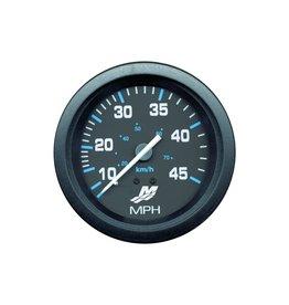 Mecruiser Mercury Quicksilver Flagship Speedometer [Range 10‑45 MPH to 10‑100 MPH &  10‑ 50 Knot]