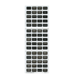 Blue Systems Switch panel labels / stickers gray / black