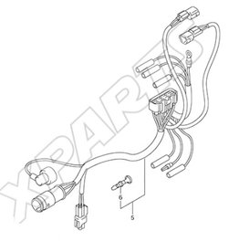 Suzuki/Johnson DF25/DF30 Outboard 36610-89J10 Wire Harness Assembly